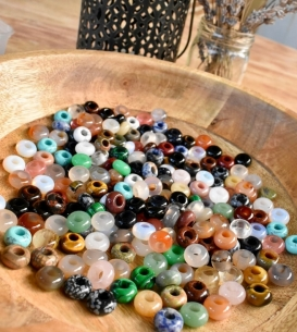 Set of 5 Gemstone Beads