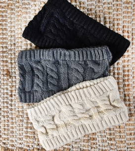 Wide Chunky Knit Head Band