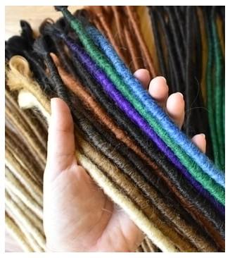 Single Ended Dreadlocks Semi Crocheted Synthetic